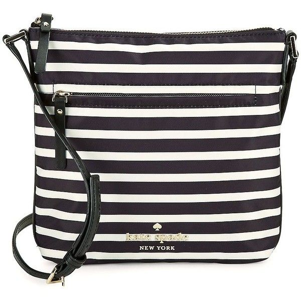 Kate Spade New York Striped Mini Bag ($104) ❤ liked on Polyvore featuring bags, handbags, shoulder bags, black cream, miniature purse, nylon purse, cream purse, striped shoulder bag and stripe handbag