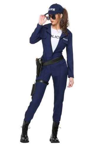 You will be on the beat and catching bad guys in no time with this exclusive Women's Tactical Cop Jumpsuit.