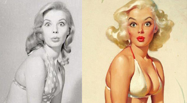 These Rare Photos Show Us The REAL Women Behind Iconic Pin-Up Paintings Of The 50s