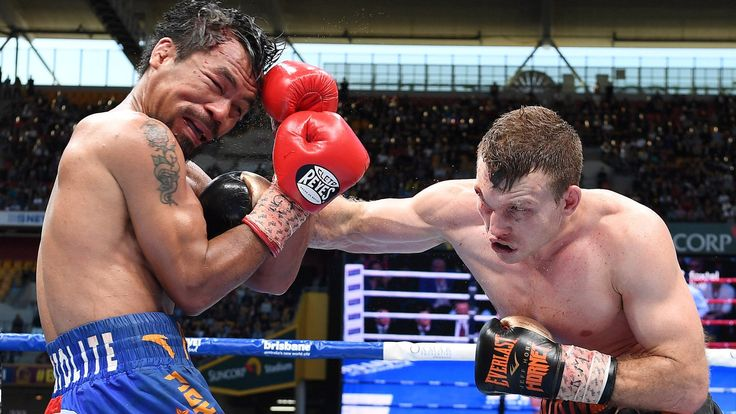"Jeff Horn won his first world title in front of a hometown crowd of more than 50,000Former schoolteacher Jeff Horn stunned champion Manny Pacquiao to win the WBO world welterweight title with a unanimous points decision in Brisbane.The three judges scored the fight 117-111, 115-113, 115-113 to the 29-year-old Australian at Lang Park.""That's the decision of the judges."
