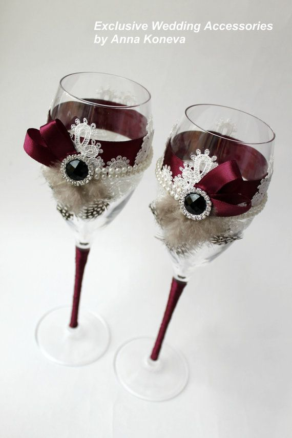 vintage wedding glasses the great gatsby wine glasses bride and groom champage glasses toasting