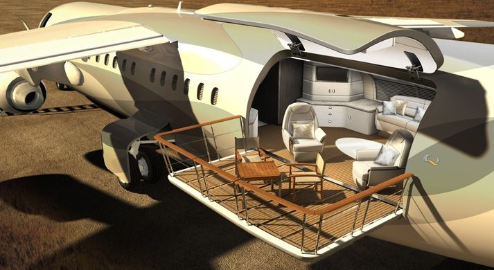 Luxury Private Jets Interior   Luxury private jets could soon include the 'Air Deck' viewing deck ...