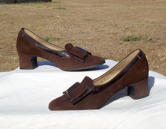 1940s Brown Suede Pumps with Court Heel and by VintageSquirrels, $42.95