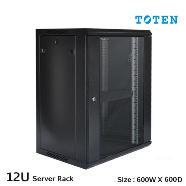 Toten Standard Wall Mount Rack Cabinet Enclosure 12u 19 W600 X D450 X H635mm Swm6412 Cctvcamera Networkswi Data Cabinet Data Rack Wall Mount Rack