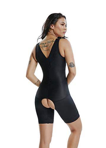 4faab7d88 Open-Bust Bodysuit Full Body Shaper - Seamless Firm Tummy Control Plus Size  Open Back Mid-Thigh Shapewear for Women