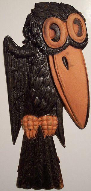 vintage halloween rare german diecut crow