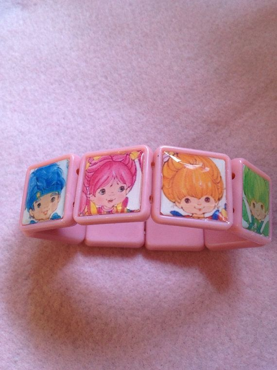Strawberry Shortcake And Friends Pink Square Stretch by zefora, $15.00