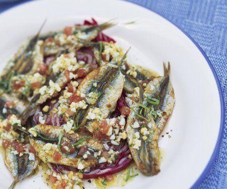 Rezept: Sardellen mit Ei und Kräuter-Marinade