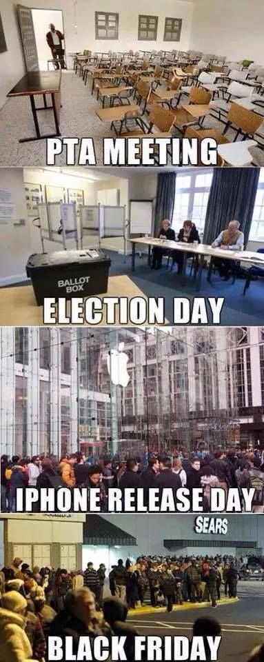 Election Day Vs Black Friday #BlackFriday, #Election, #Funny, #IPhone