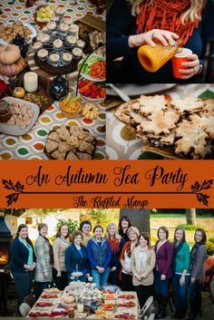 A perfectly autumnal tea party! Our favorite fall foods inspired by Pinterest. =)