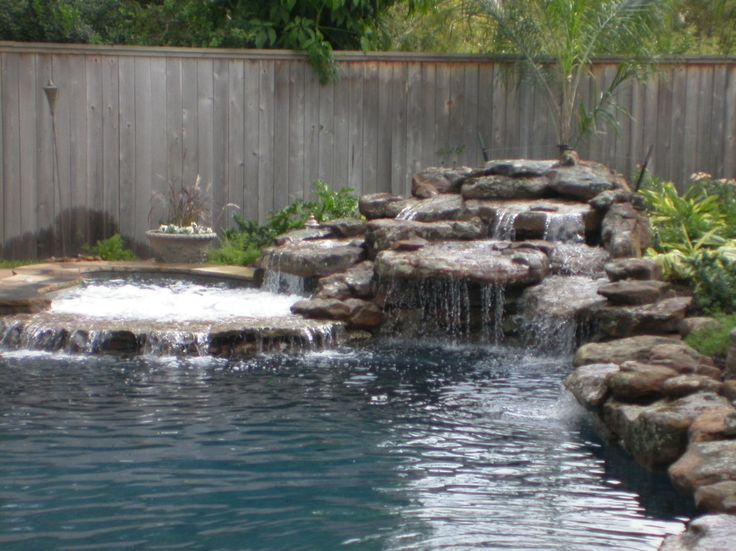 Swimming pool waterfalls bing images pools pinterest for Beautiful swimming pools with waterfalls