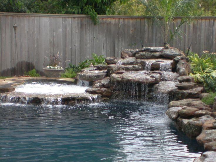 Swimming pool waterfalls bing images pools pinterest - Swimming pool designs with waterfalls ...