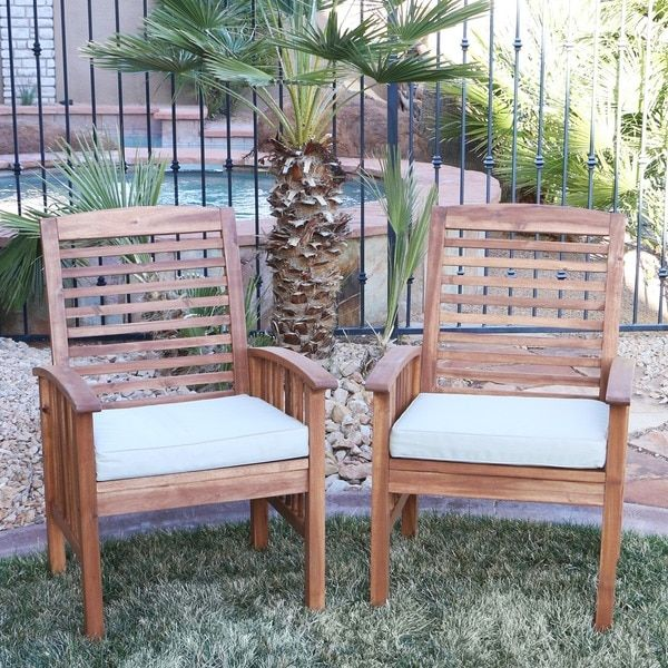 Acacia Wood Patio Chairs (Set of 2) | Overstock.com Shopping - The Best Deals on Dining Chairs