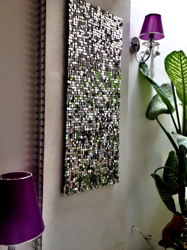 Sequin wall decoration idea..
