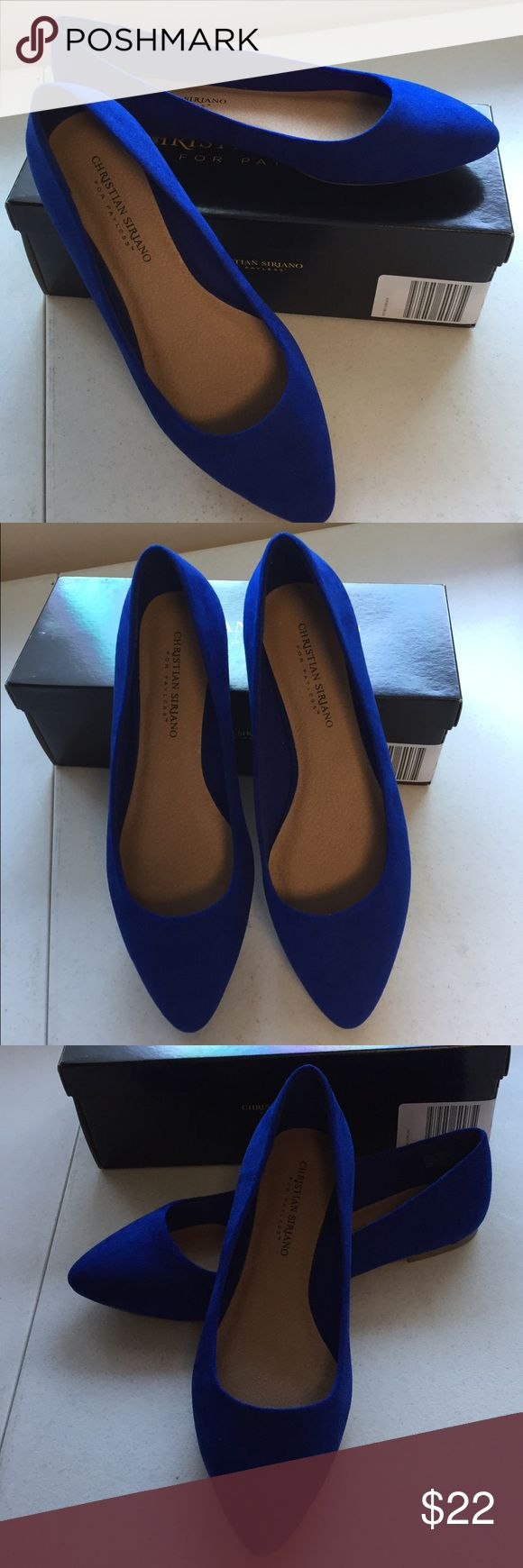 Christian Siriano cobalt flats Christian Siriano for Payless cobalt flats. Suede look uppers. Brand new in the box. All man made materials. Please ask for additional information if needed before purchasing. Christian Siriano Shoes Flats & Loafers