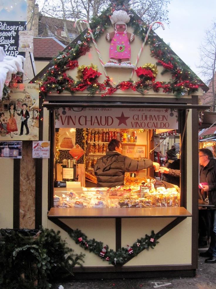 Christmas market stand