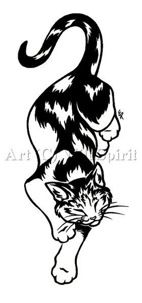 Calico Cat Tattoo Design by