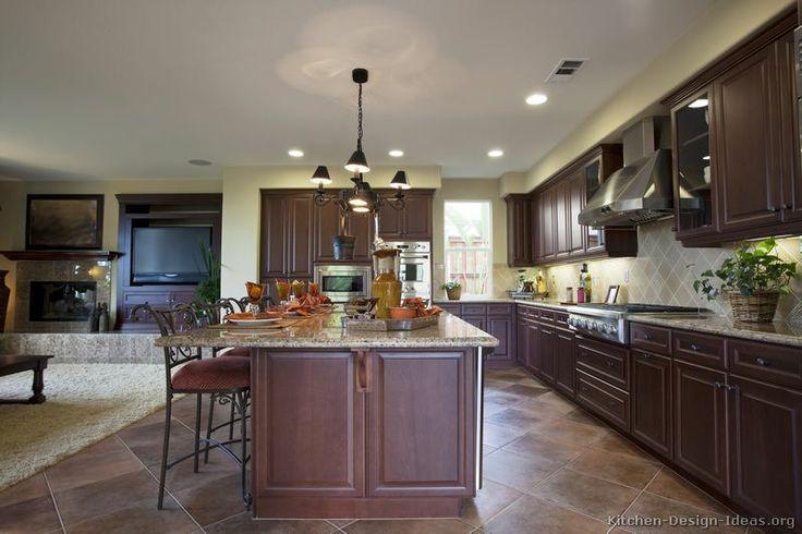 Dark Wood Kitchen Decorating Ideas
