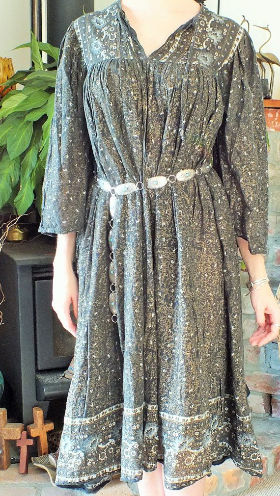 Classy Cotton Indian Dress by ParrotMoon on Etsy