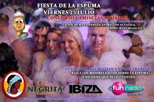Fiesta de la Espuma + Concurso camisetas mojadas.