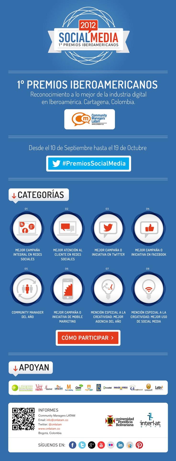 Postula tu campaña #PremiosSocialMedia Iberoamericanos aquí ning.it/O06MNG #CommunityManagement twitpic.com/ati56b