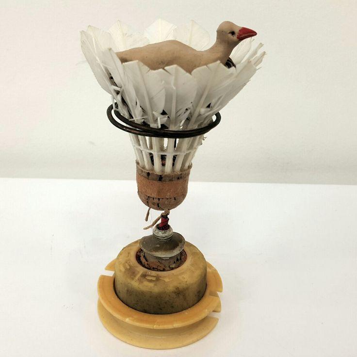 Susie Marwick Bird in a shuttlecock