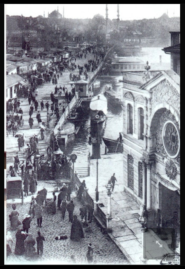 Istanbul, Pont et Corps de Garde a Karakeui   Karakol at karakoy