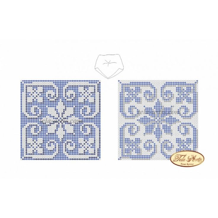 В-005 Бискорню Голубая снежинка. Схема для вышивания бисером | Магічна Майстерня