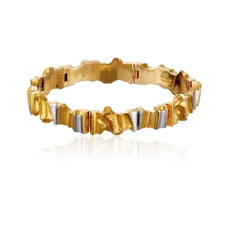 Lapponia - 14K gold with platinum Alba bracelet