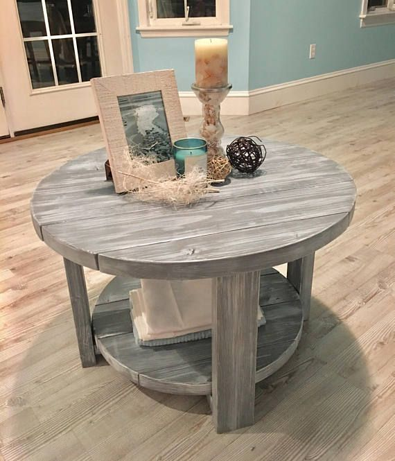 Items Similar To Round Rustic Farmhouse Coffee Table 2020