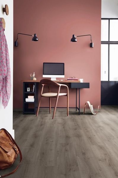 "Lame PVC à clipser imitation bois | Tarkett Easium ""42297907 Rustic Oak Medium Grey"" - BRICOFLOR"