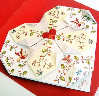 Marriage invitation inspired in the traditional handkerchiefs.