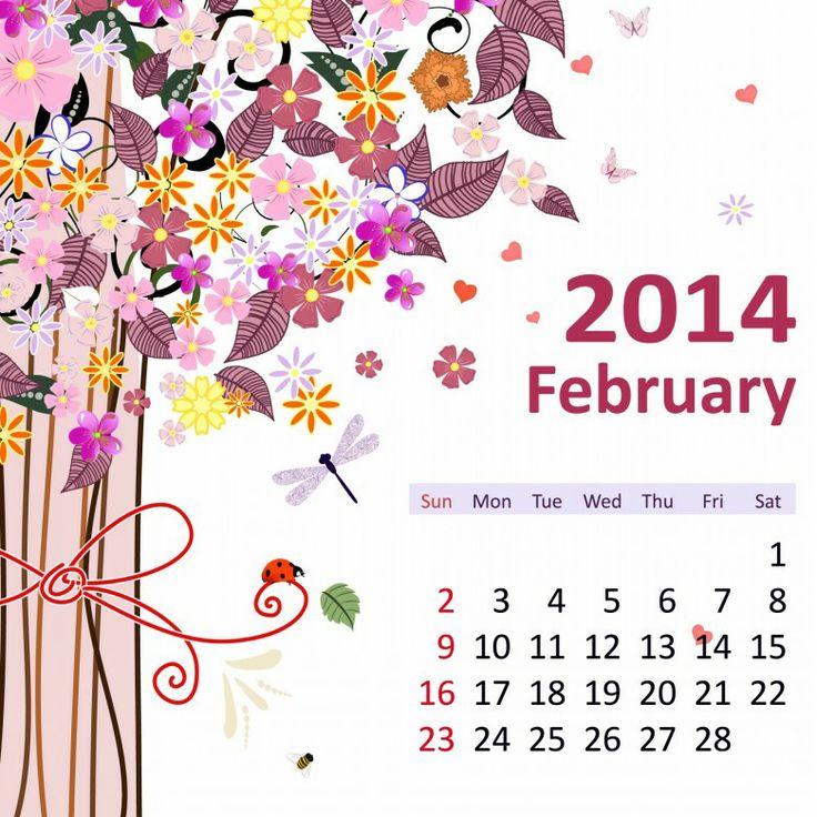 2 February 2014 780x780 2014 Calendar. all Months [12 JPEGs]