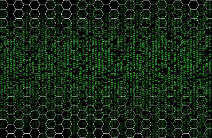 green, matrix like