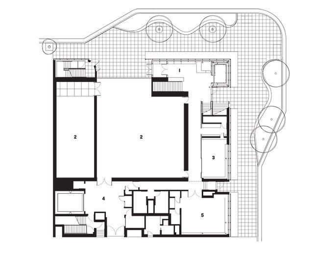 Aspen Museum - Shigeru Ban floorplan