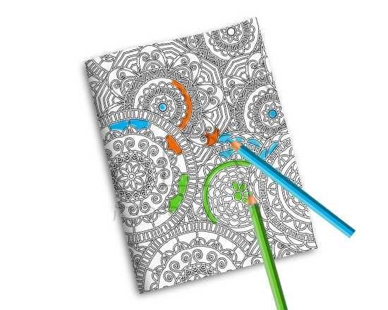 Quaderno Copertina da Colorare Rosoni