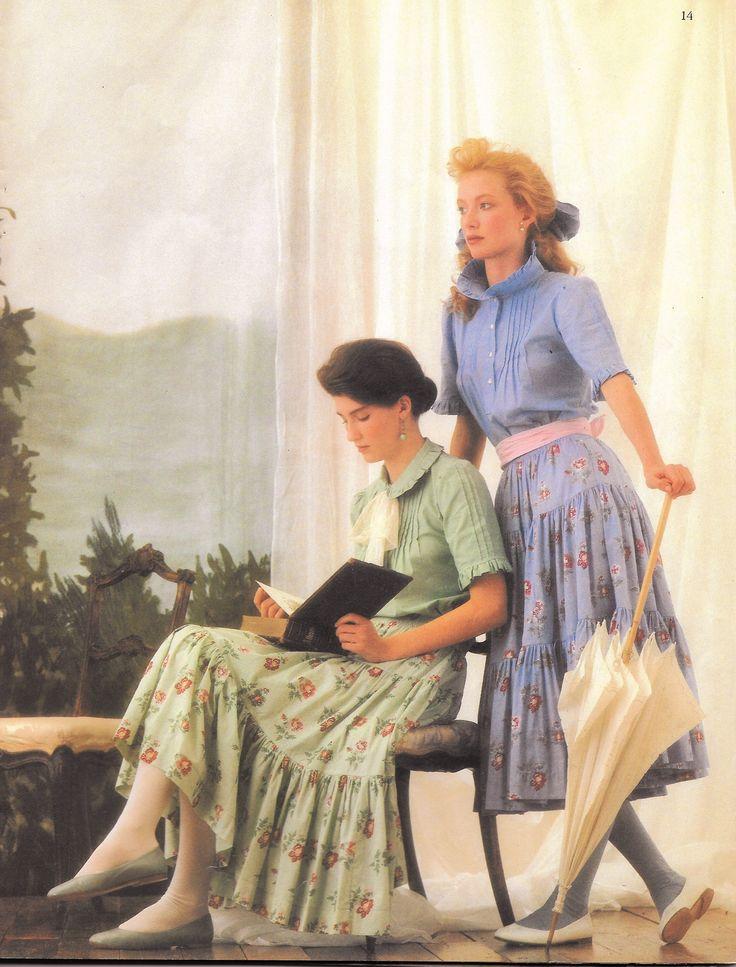 spring summer laura ashley 1983 catalog tiered skirts. Black Bedroom Furniture Sets. Home Design Ideas