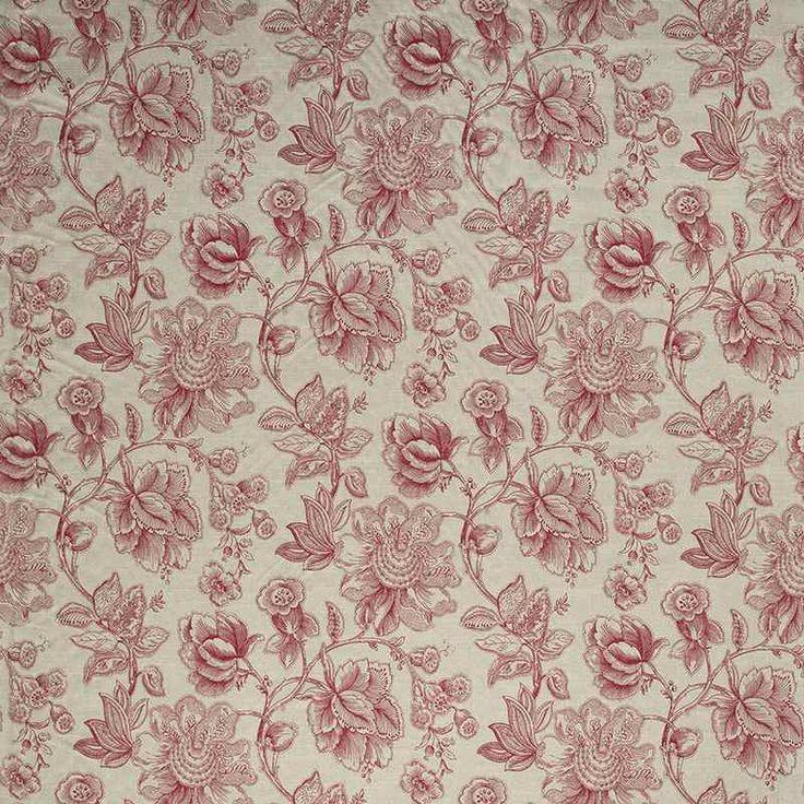 Warwick Fabrics : MANDALAY, Colour RUBY