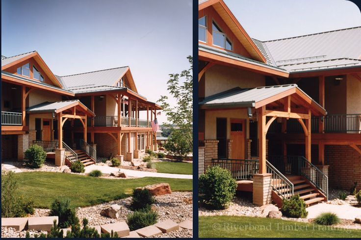 Entryway pergolas for ranch homes timber frame entry for Ranch style timber frame homes