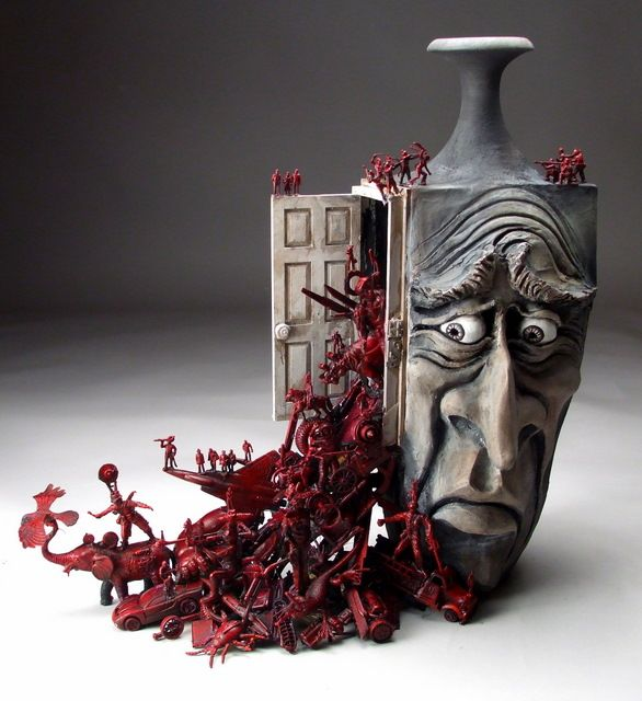 some days they just spill out: Mitchell Grafton - Repressed Memories - Hidden Ridge Gallery #ceramics
