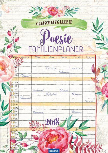 Mein Familienplaner 2018   Bolanz Verlag e.K.