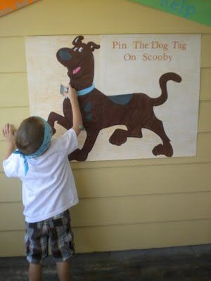 Pin the dogtag on Scooby and a great photo prop idea!