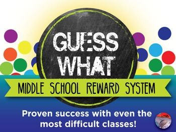 """With GUESS WHAT, you can promote positive learning where students are recognized for exceptional behavior without becoming dependent on a reward for doing so. This is not a """"I did my homework give me some candy"""" type of system, but one that will truly begin to run itself as your class transforms into a focused, respectful learning environment motivated by a job well done."""
