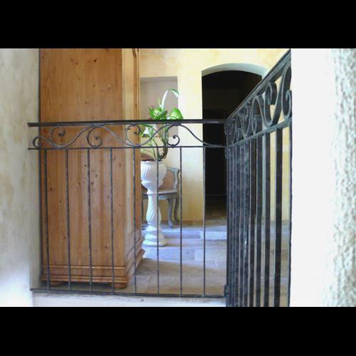 Rampe d'escalier, Garde-corps, rambarde en fer forgé - La Forge