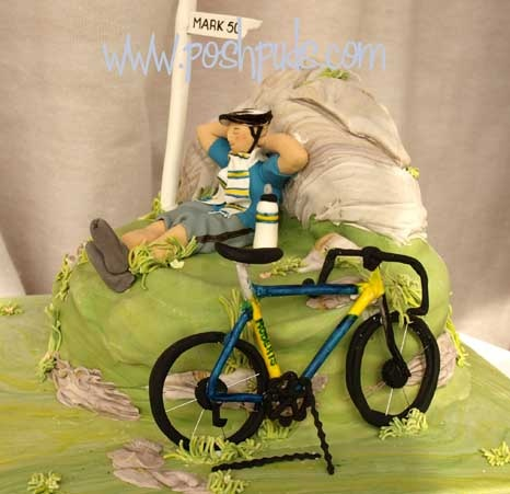 50th Birthday Cake For Leeds Supporting Cycling Enthusiast