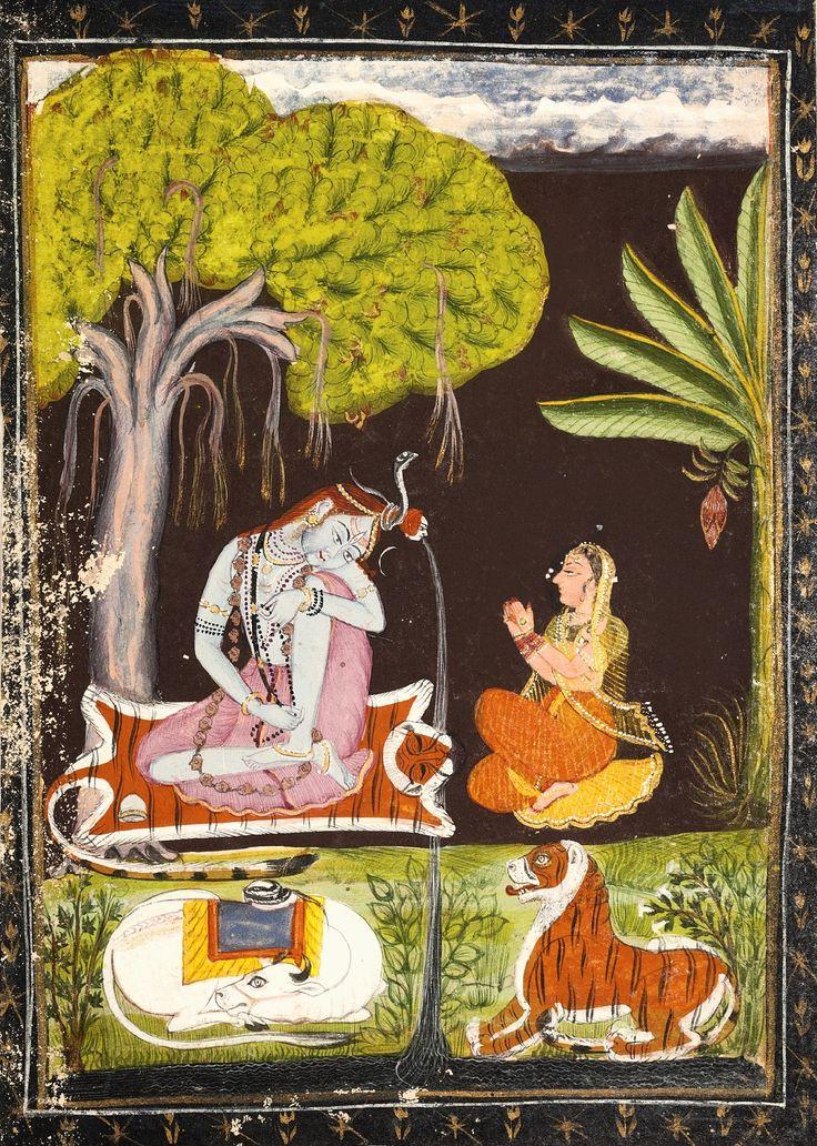 Shiva And Parvati Rajasthan Bundi Late 18th Century
