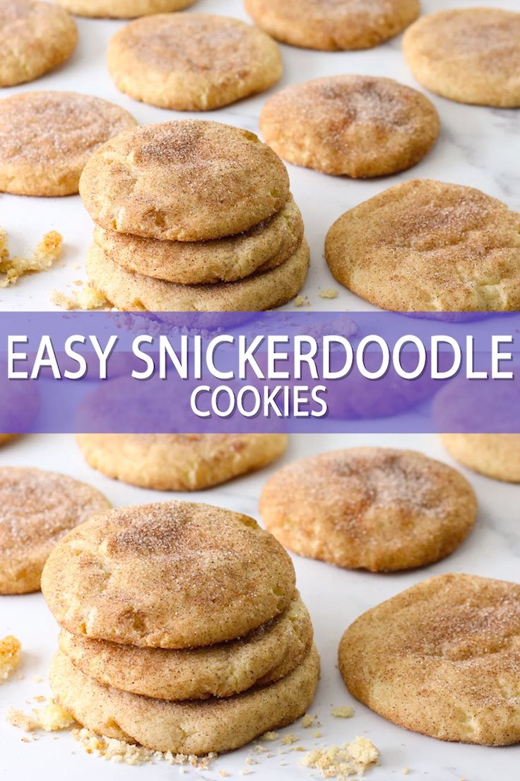 Easy Snickerdoodle Recipe in 2020 Snickerdoodle recipe