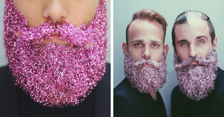 Glitter!! @boredpanda: In the latest weird trend to surface on Instagram, bearded men are starting to cover their beards with glitter. It may seem unexpected, but it was only a matter of time after men began putting flowers in their beards more than a year ago.