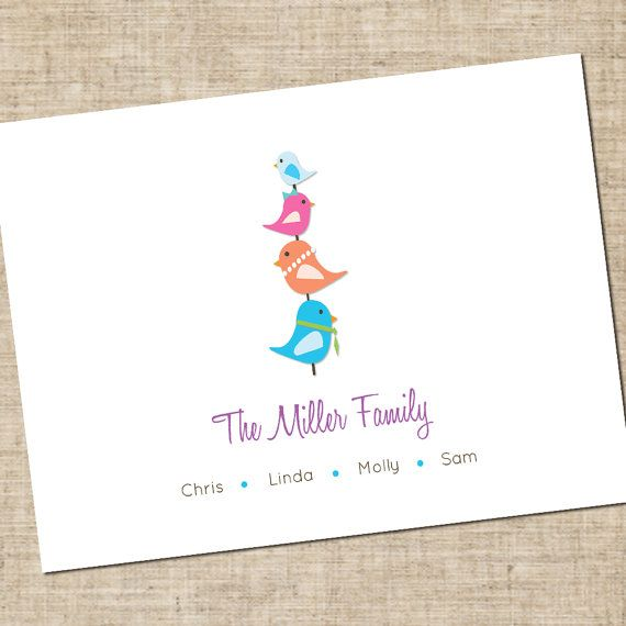 Printable Personalized Family Stationary Modern by InkaDinkDesigns, $6.00