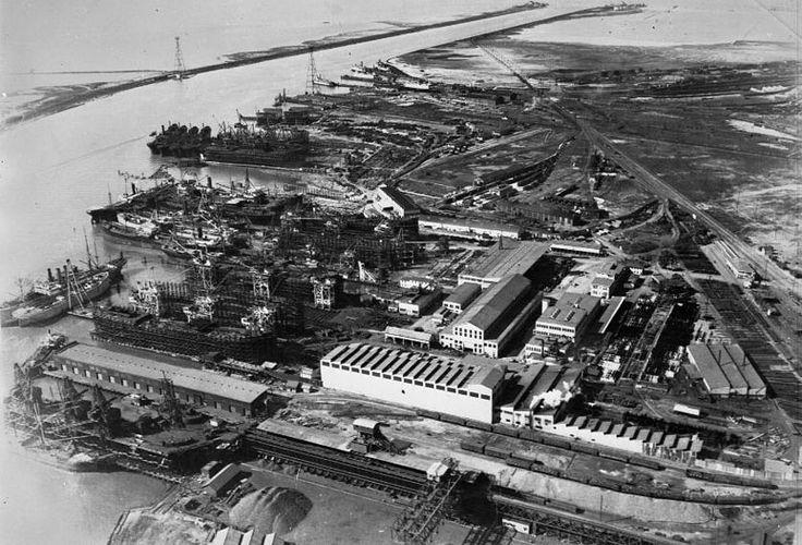 Aerial view of Moore-Scott yard